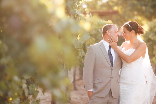 artistic temecula wedding photographer churon winery couple in vineyard