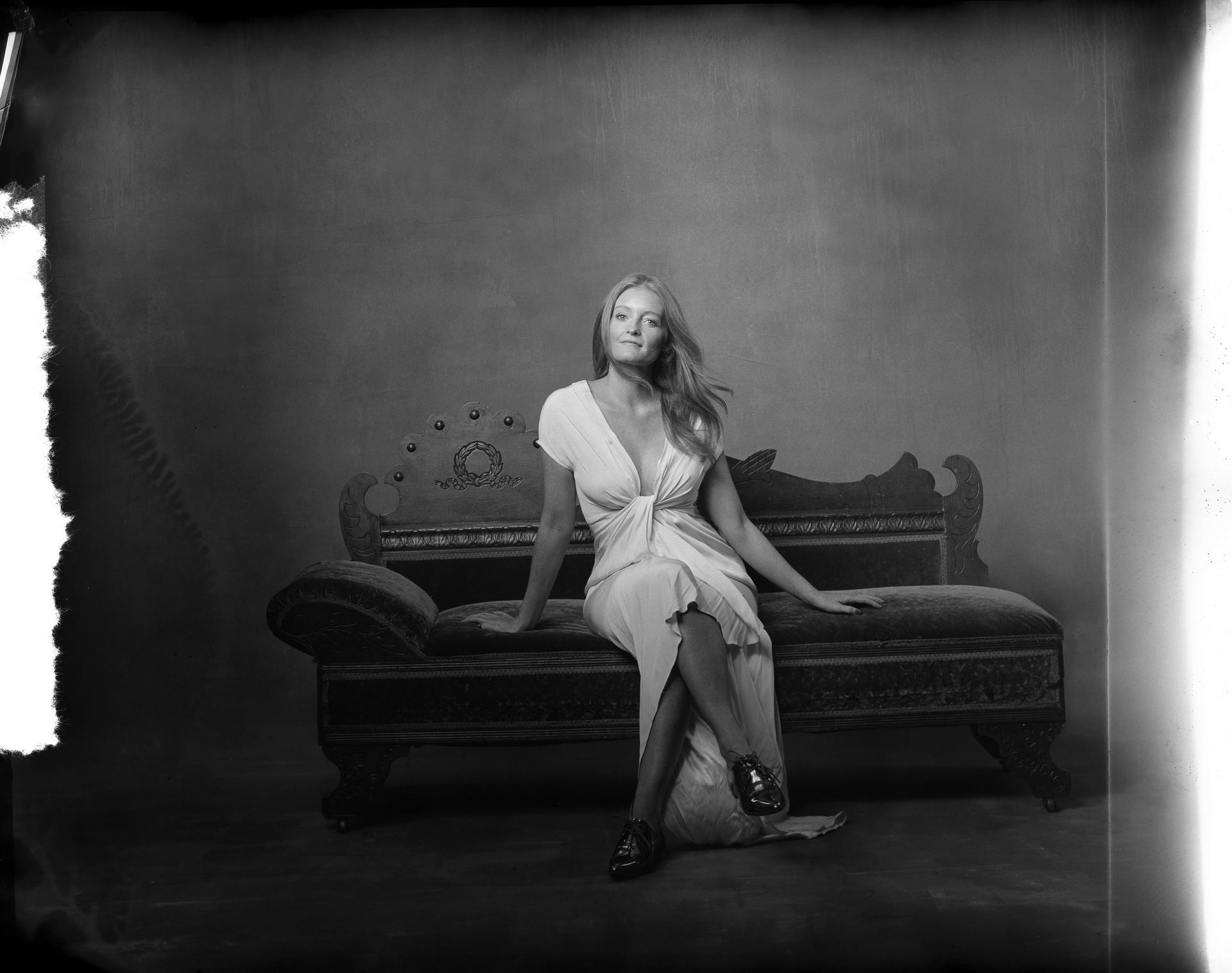new 55 film photo studio portrait of woman