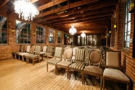 carondelet house wedding ceremony set up night