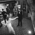 wedding first dance courtyard carondelet house
