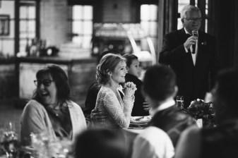 bride during first toast wedding reception carondelet house