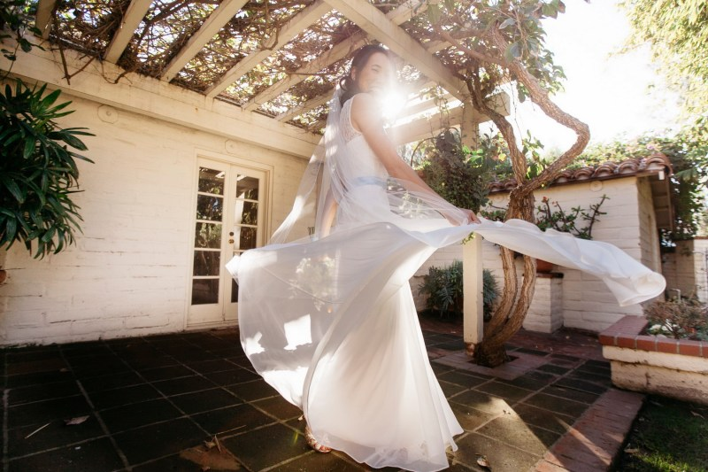 sherman gardens wedding photographer corona del mar bride twirling