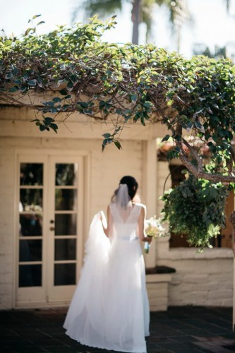 sherman gardens wedding photographer corona del mar bride walking