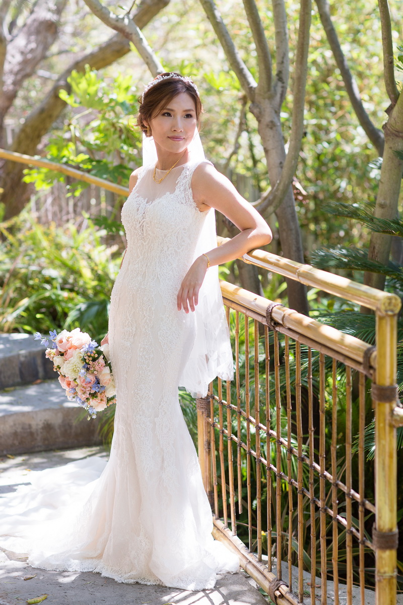 seven degrees wedding laguna beach photographer nicole caldwell bride in bamboo garden