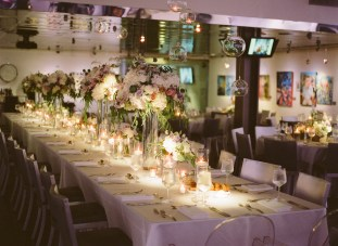 seven degrees wedding photographer nicole caldwell who uses film cinestill reception tables