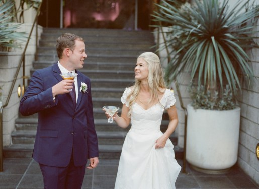 seven degrees wedding photographer nicole caldwell who uses film cinestill couple with signature drinks