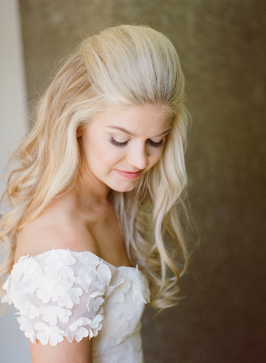 seven degrees wedding photographer nicole caldwell who uses film cinestill bride in brdial suite