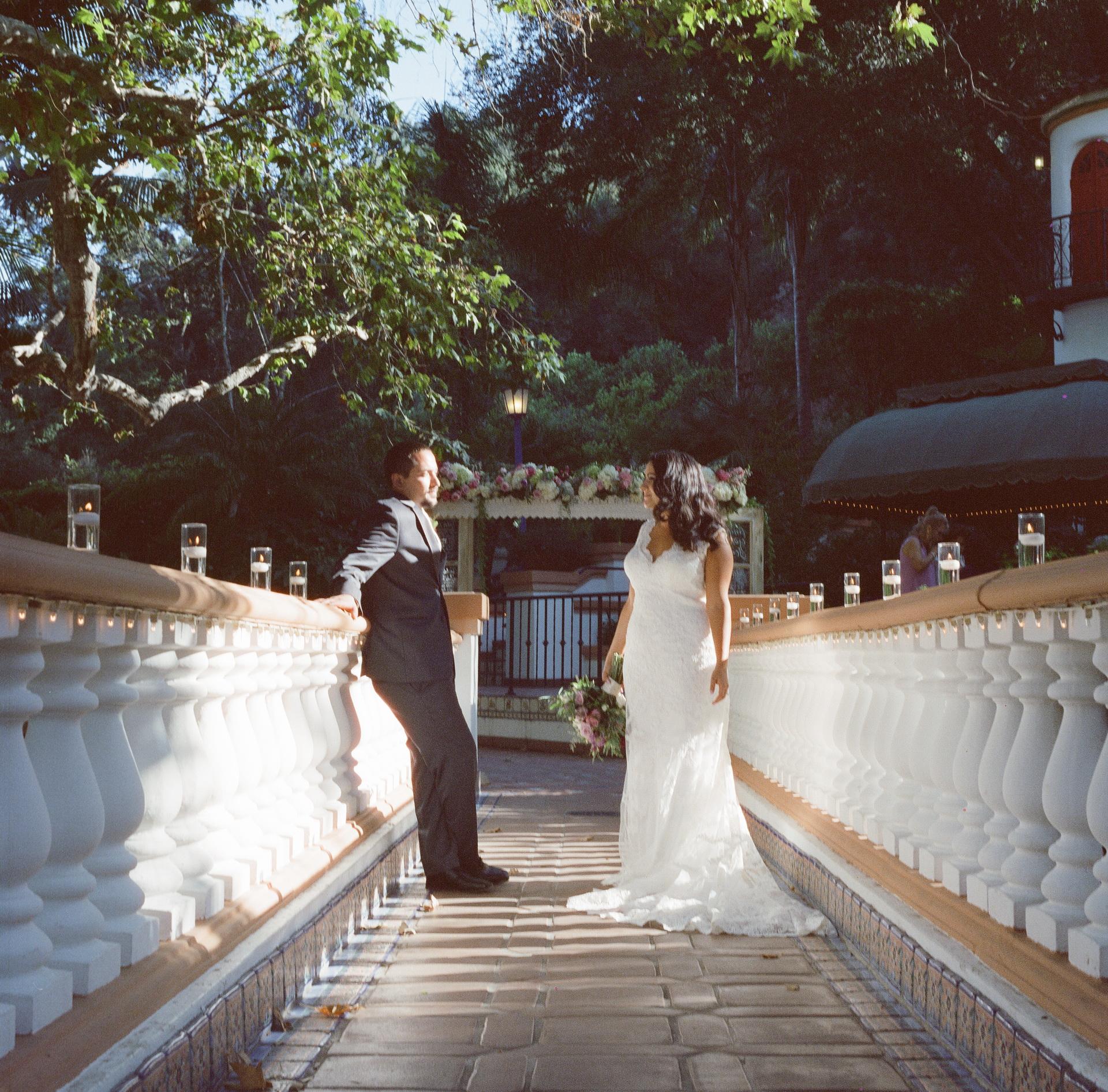 rancho las lomas wedding photograph film