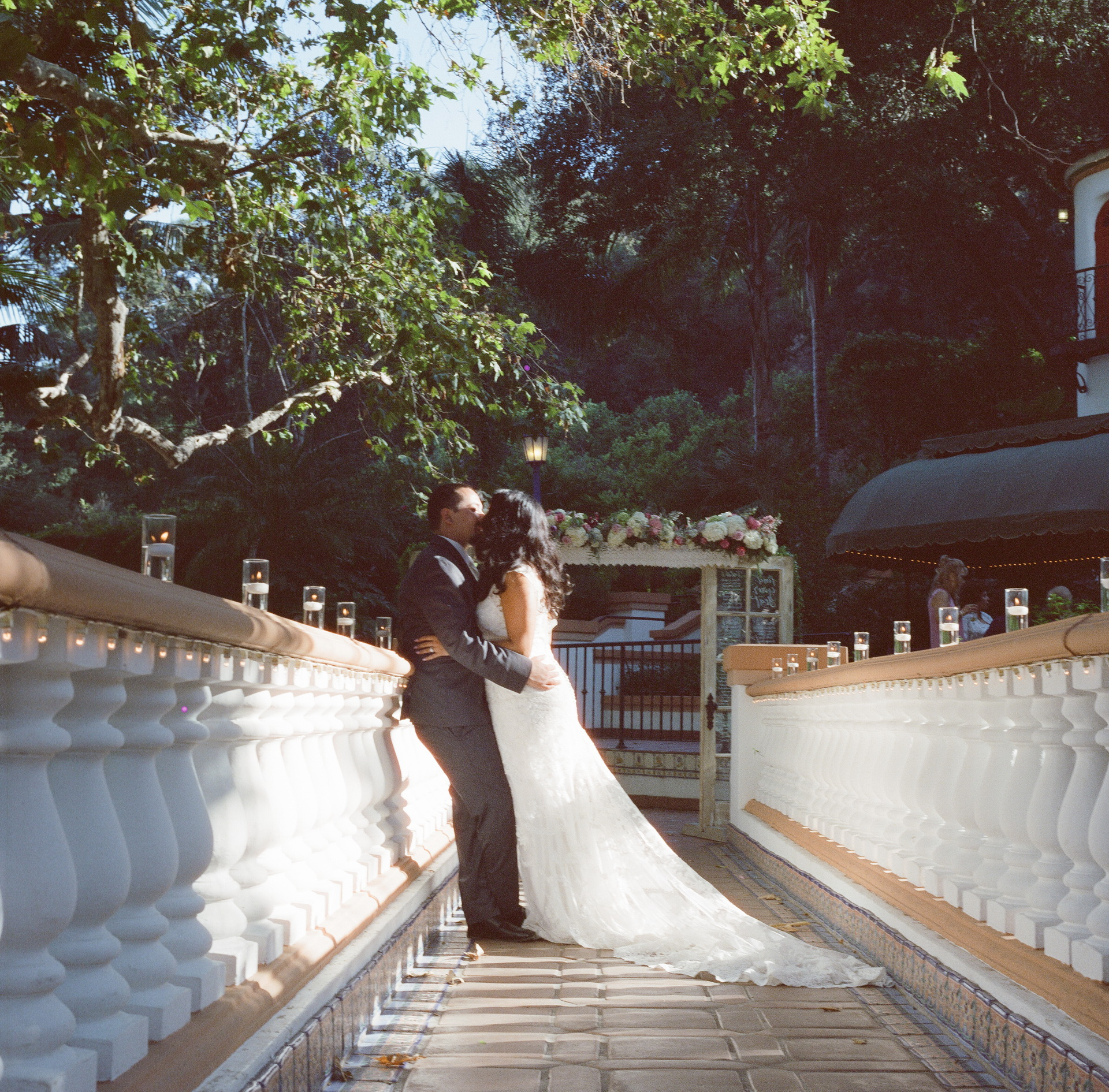 couple on bridge rancho las lomas