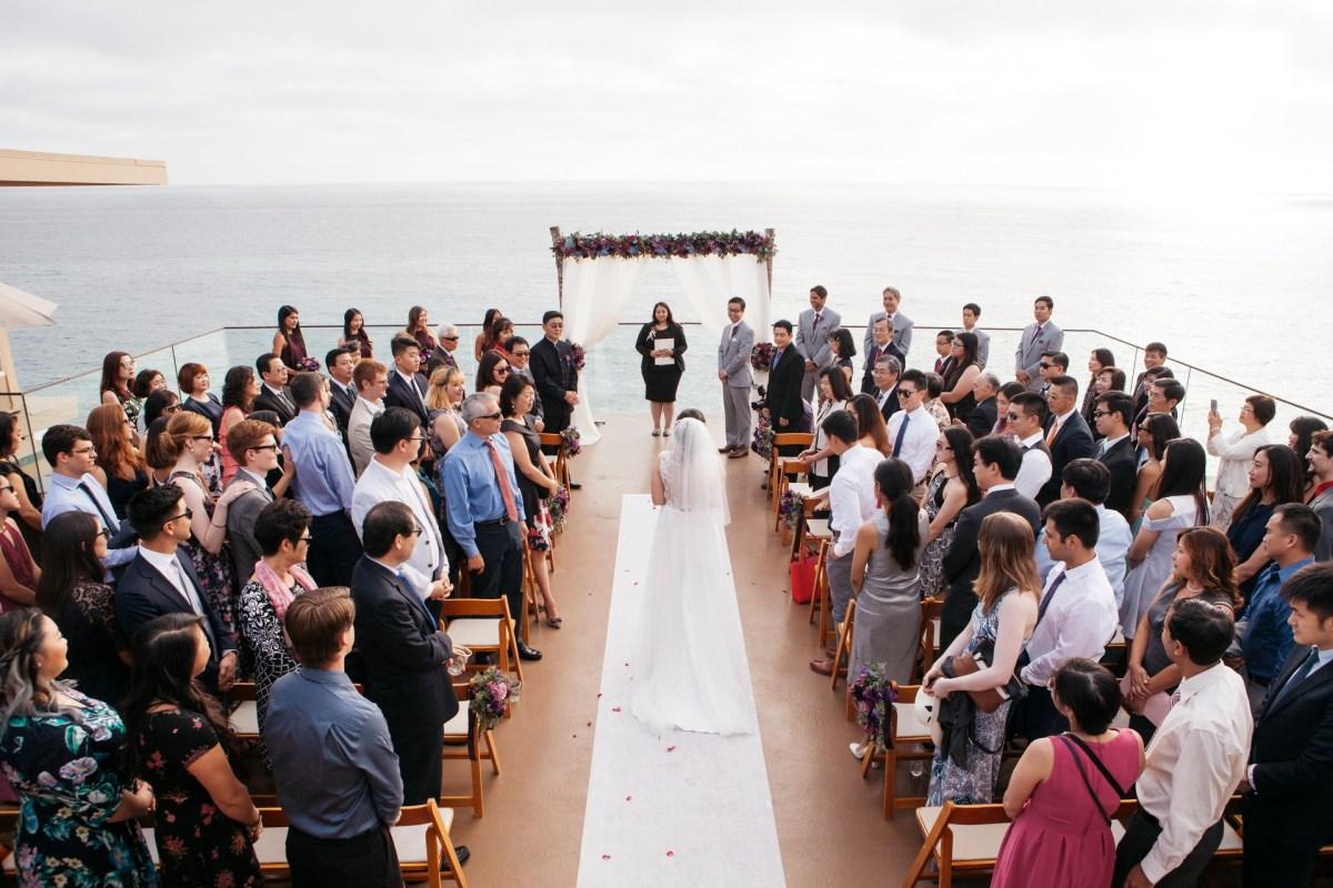 surf and sand resort wedding photographer nicole caldwell wedding ceremony