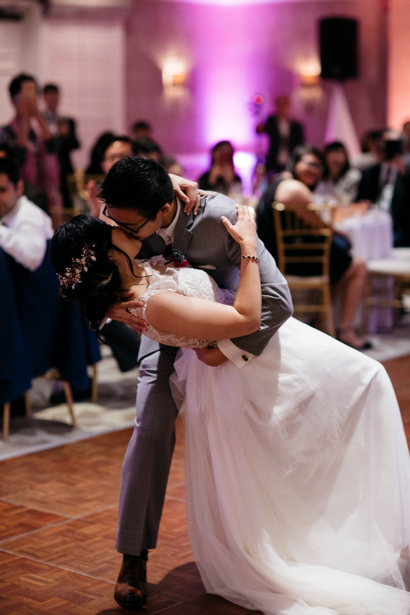 surf and sand resort wedding photographer nicole caldwell first dance