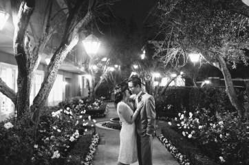 surf and sand resort wedding photographer nicole caldwell bride and groom at night
