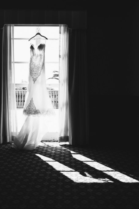 dress hanging wedding bel air bay club wedding palos verdes