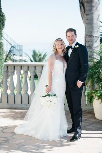 bride and groom formal portrait wedding bel air bay club wedding palos verdes