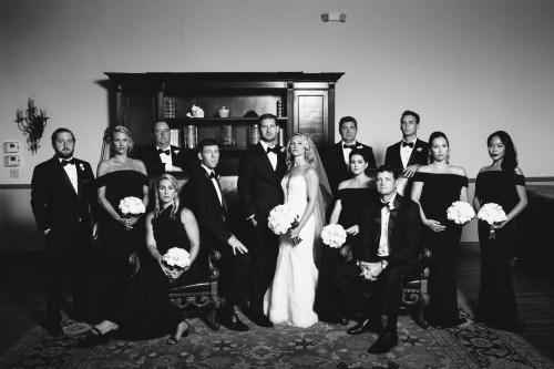 bridal party bel air bay club wedding palos verdes