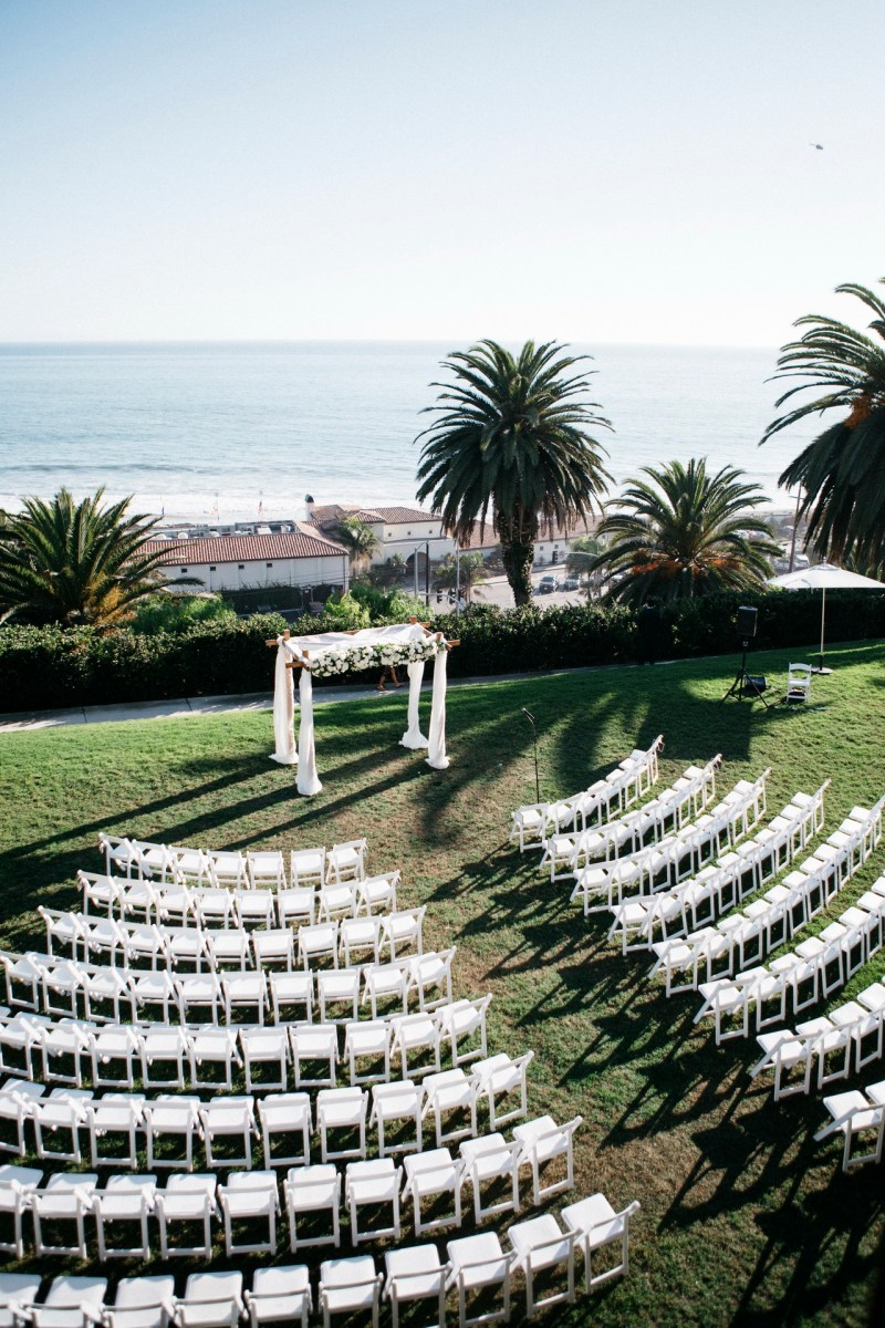 wedding ceremony view bel air bay club wedding palos verdes