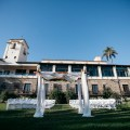 wedding ceremony set up bel air bay club wedding palos verdes