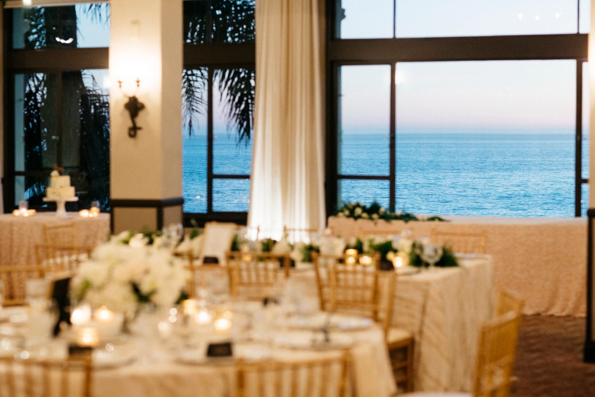 reception view form bel air bay club wedding