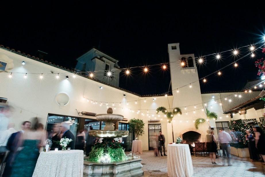 bel air bay club cocktail hour courtyard wedding