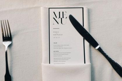 casa romantica san clemente wedding photographer artistic menu