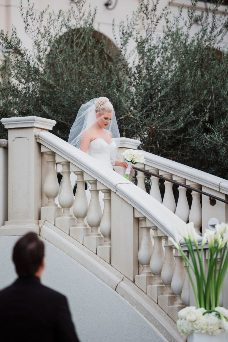 bride walking down aisle Monarch beach resort wedding photographer nicole caldwell