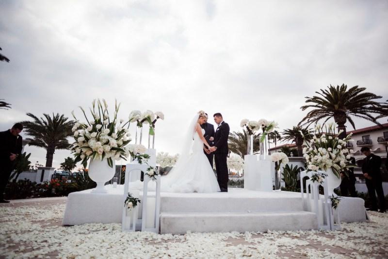 wedding ceremony Monarch beach resort wedding photographer nicole caldwell