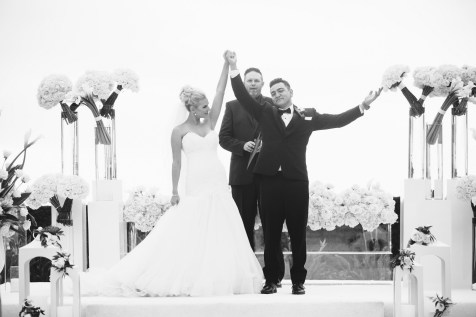 bride and groom ceremony Monarch beach resort wedding photographer nicole caldwell