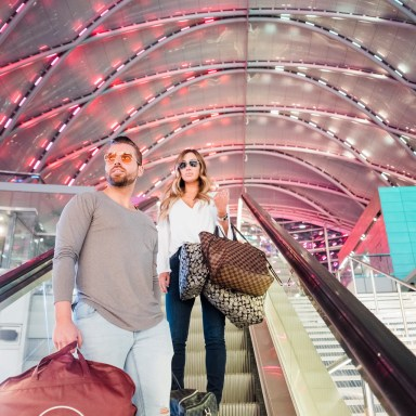 architecture engagement photos at the train station by nicole caldwell