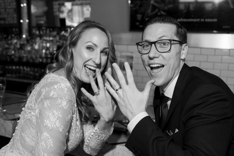 bride and groom show off their rings washington dc wedding and elopement by nicole caldwell