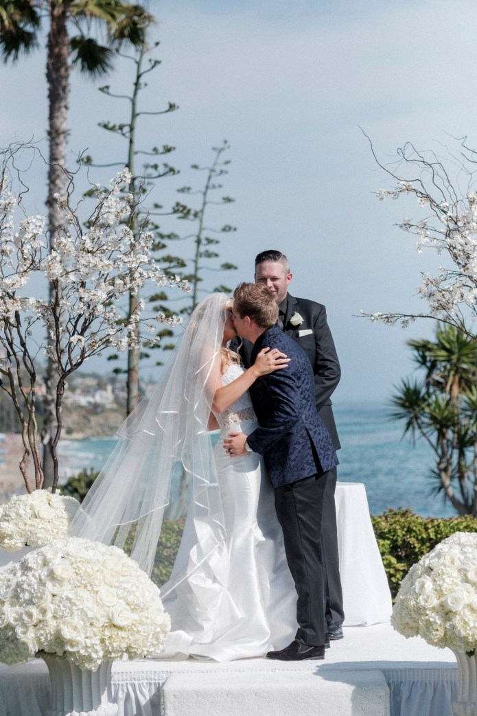 ceremony lawn bride and groom wedding montage laguna beach