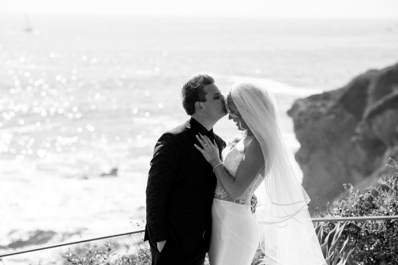 bride and groom wedding montage laguna beach