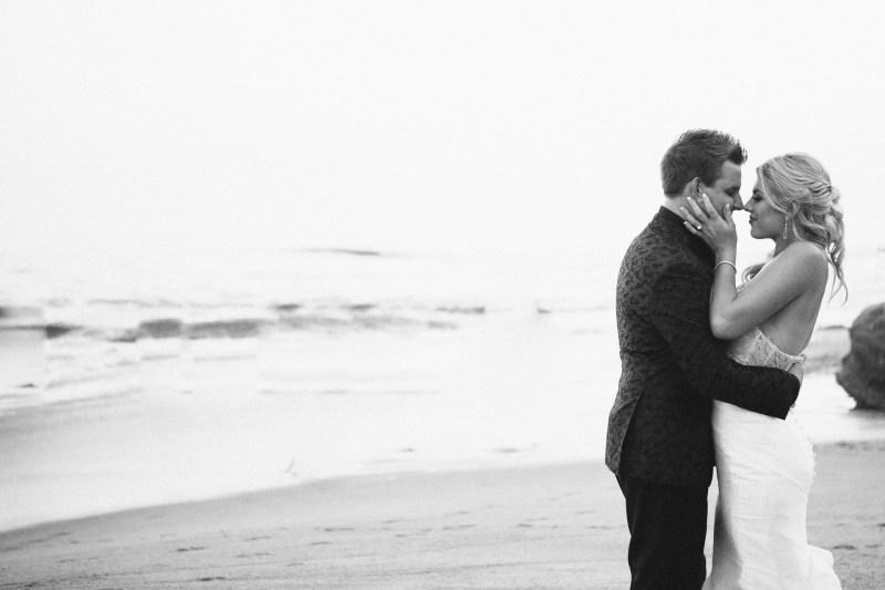 bride and groom wedding montage laguna beach