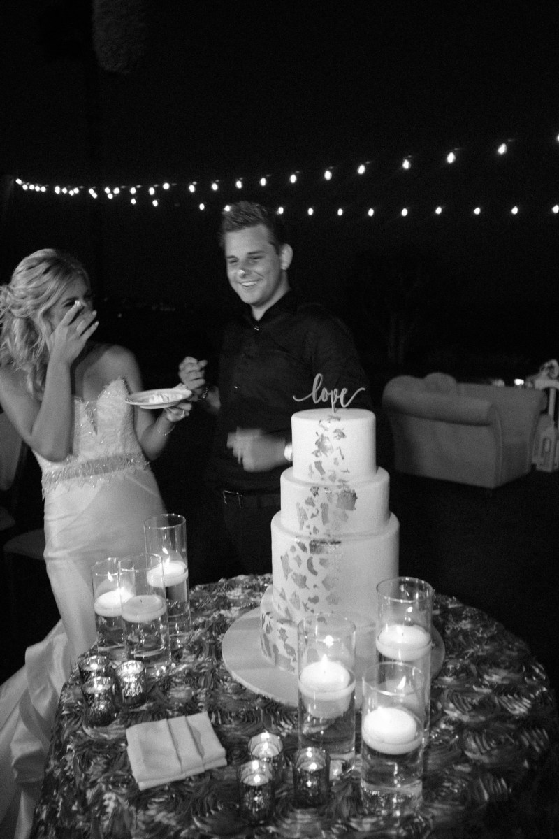 cake cutting wedding montage laguna beach