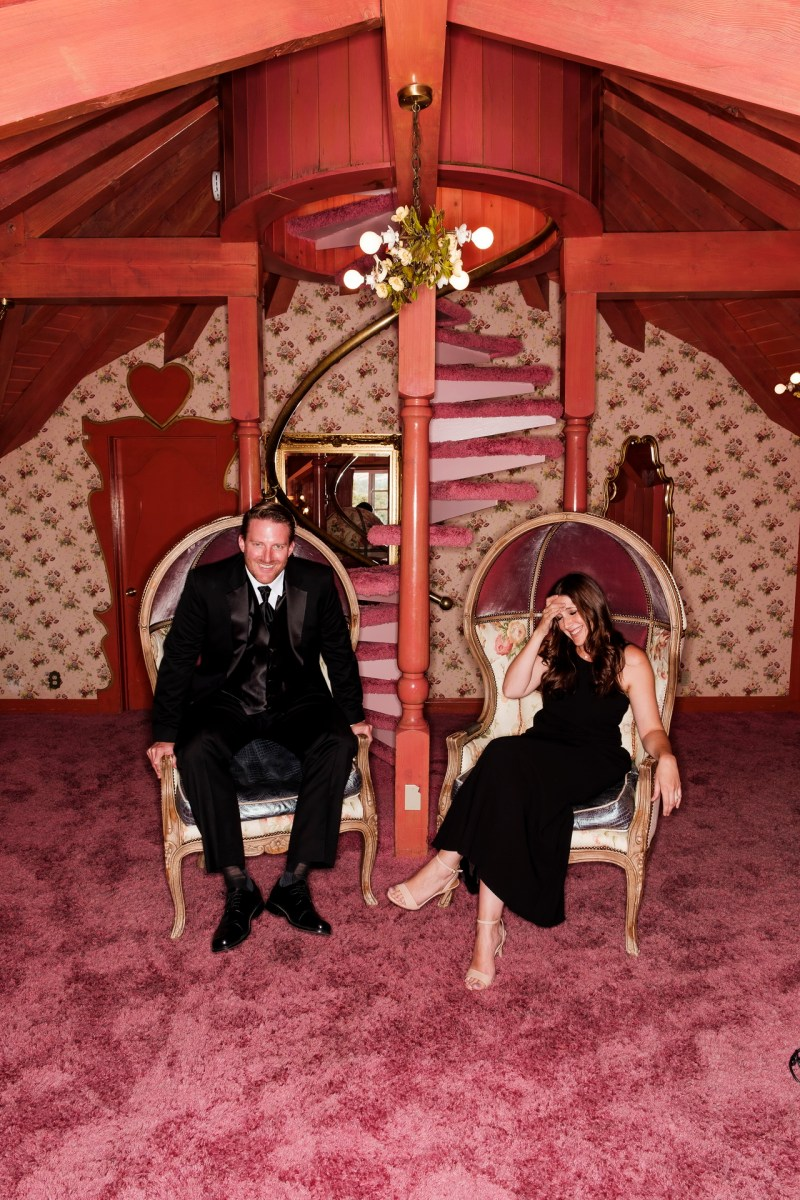 madonna inn engagement photos by nicole caldwell love nest