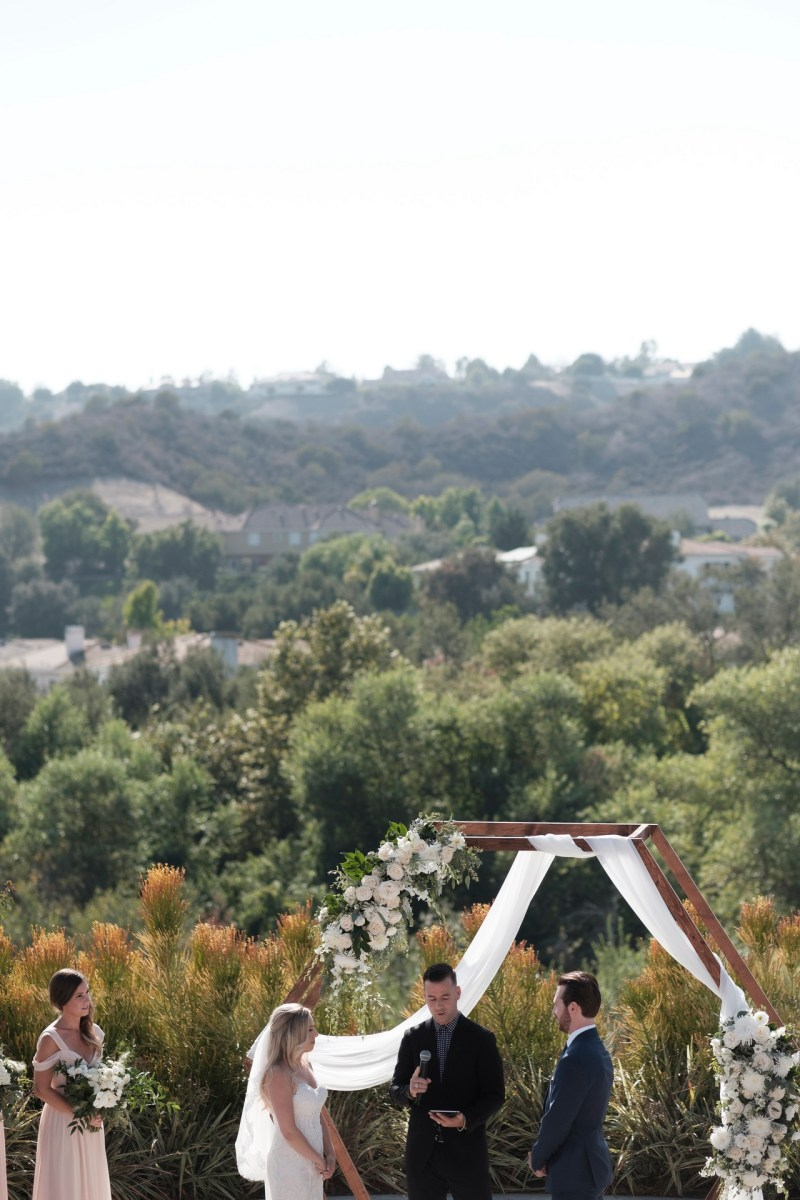 ceremony Coto De Caza Raquet and golf club weddings by nicole caldwell