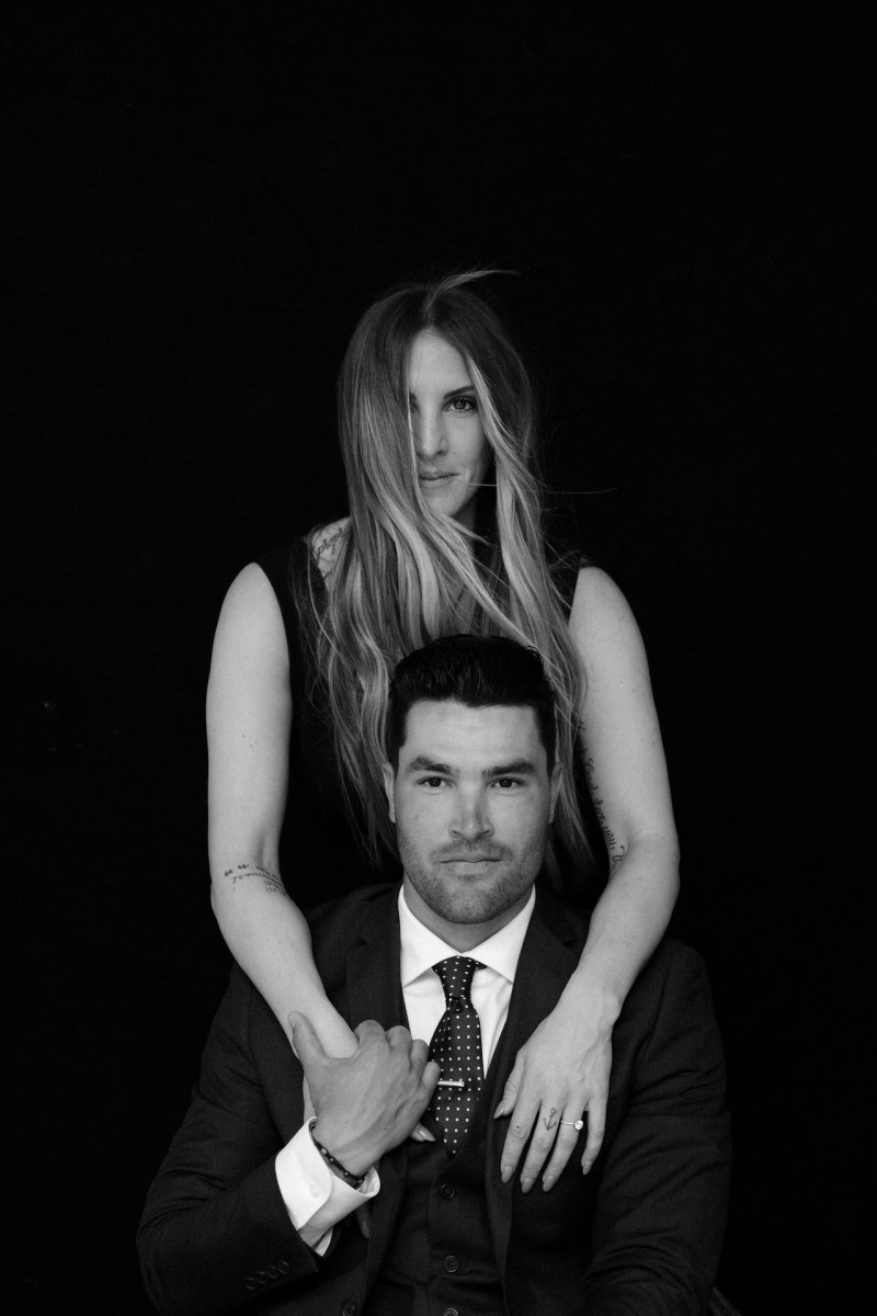 classic engagement pictue in photography studio orange county nicole caldwell 03