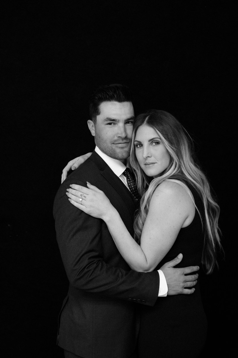 classic engagement pictue in photography studio orange county nicole caldwell 04