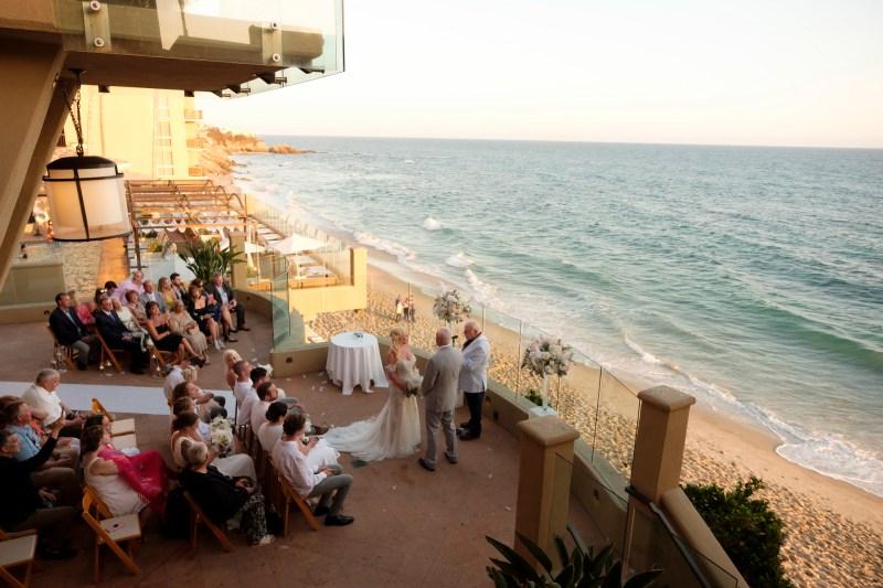 intimate second wedding Surf and Sand REsort Nicole Caldwell 17