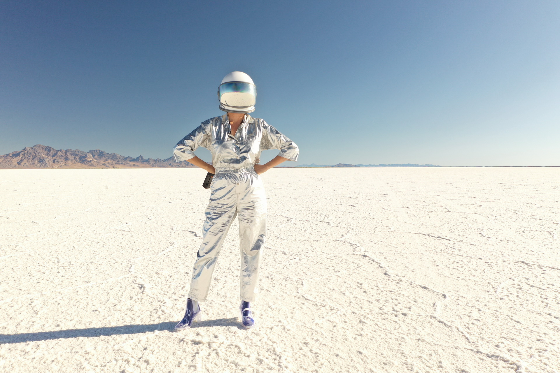 Space Trucker, I've landed at the Salt Flats, Utah