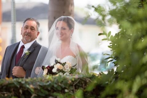 French Estate wedding photographer orange father bride ceremony