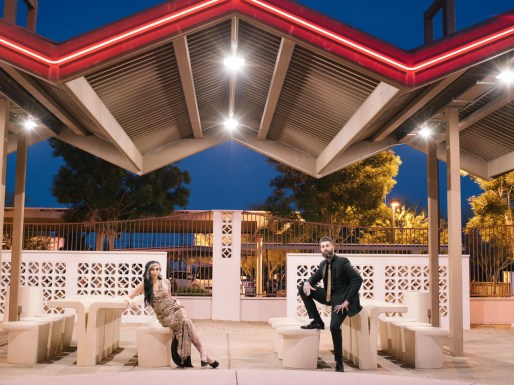 las vegas engagement shoot neon museum boneyard by nicole caldwell 17