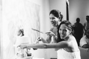 cake cutting laguna beach gay wedding