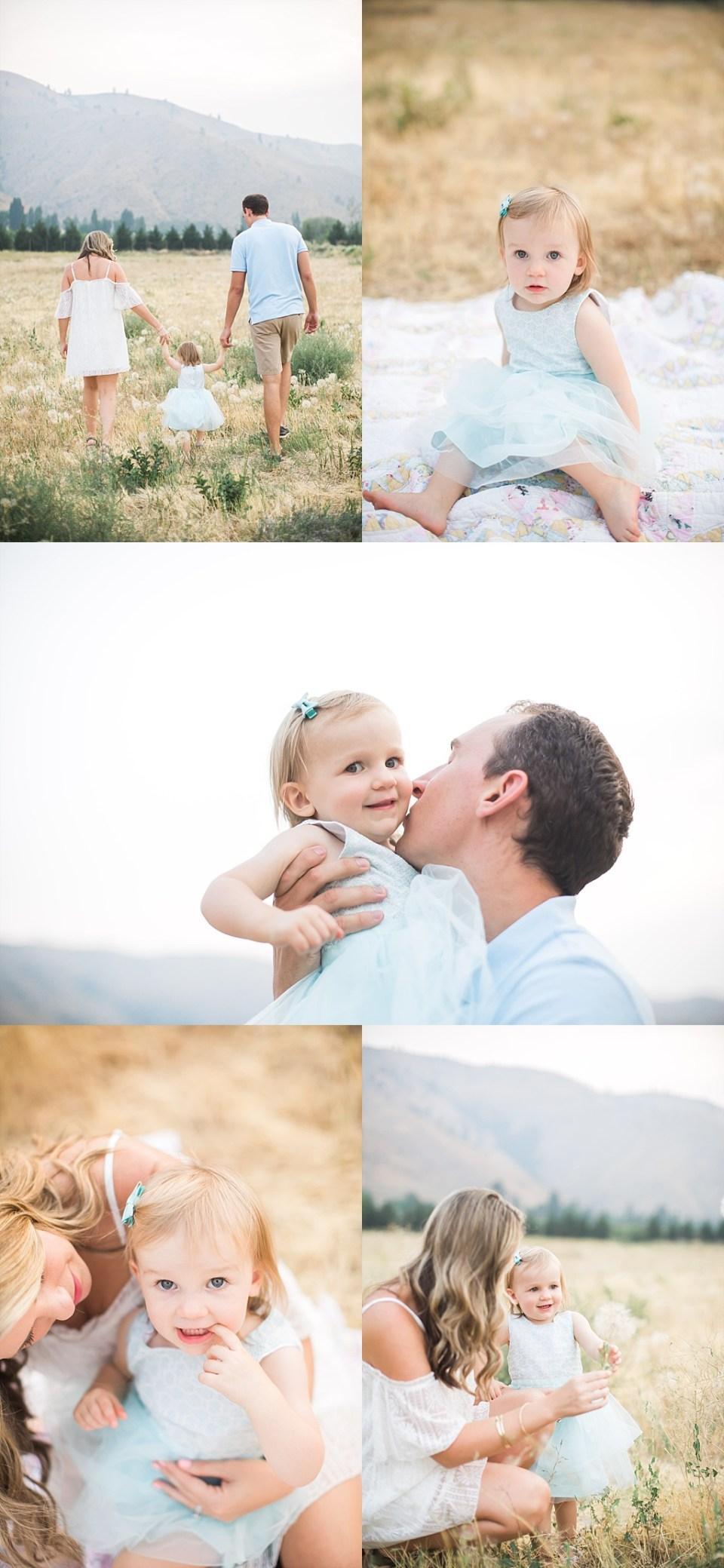 wenatchee family photos in field