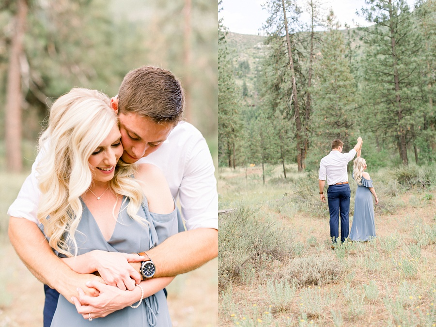A Romantic Sleeping Lady Mountain Anniversary Session