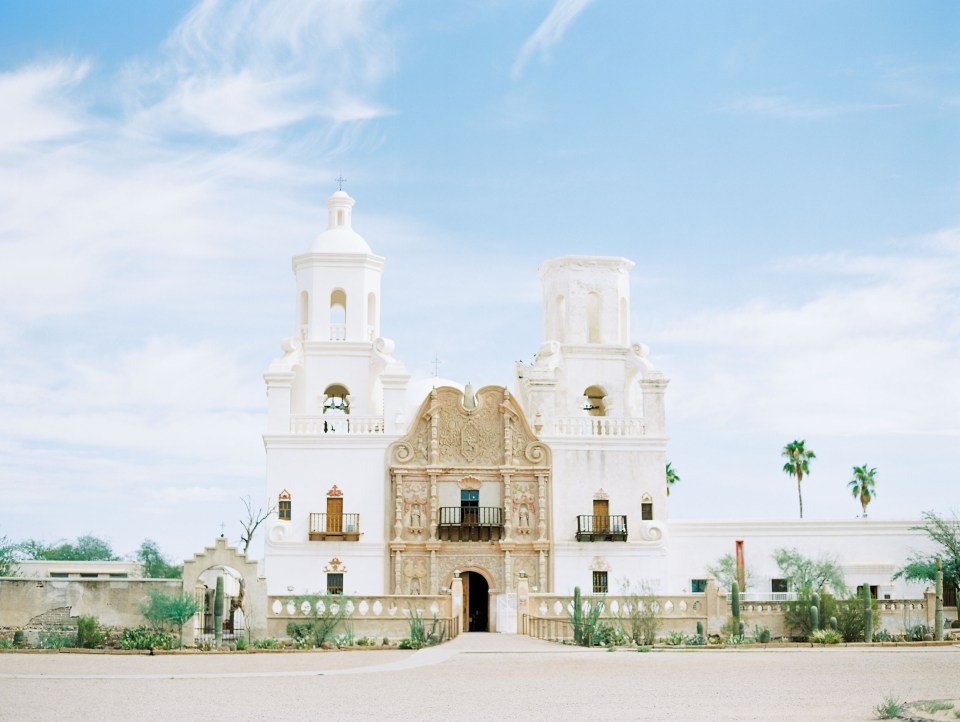 San Xavier Mission, Tucson, photographed on Ektar100 film