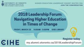 Leadership forum advertisement