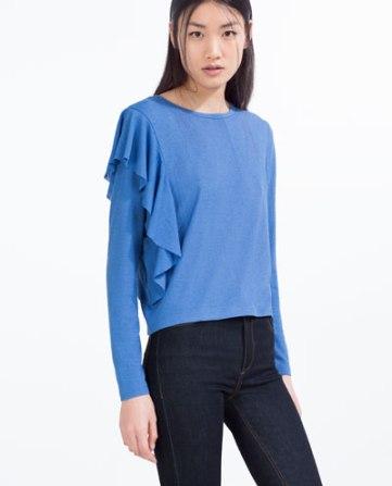 Zara -camiseta volante lateral