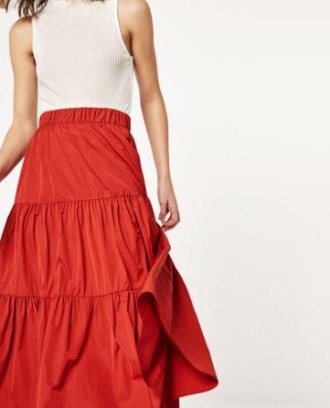 Zara - falda volante estudio