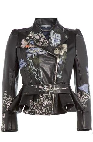 alexander macqueen leather jacket