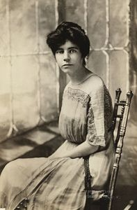 A proper woman may have sat quietly in her rocker, but many, like suffragist Alice Paul preferred to live life a little more loudly. (Image by Edmonston, Washington, D. C. [Public domain], via Wikimedia Commons)